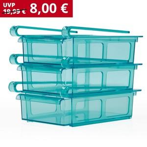 Gourmetmaxx Kühlschrank-Schubfächer, 3er-Set
