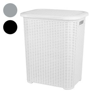 Rattan-Wäschetonne 45 l weiß
