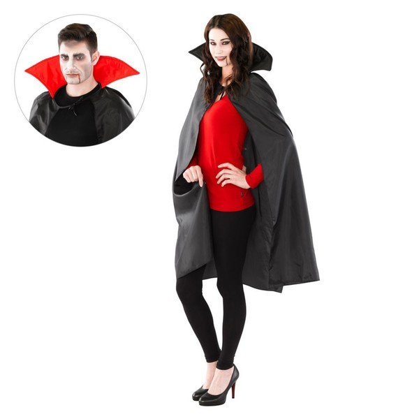 Dracula Vampir Umhang roter Kragen