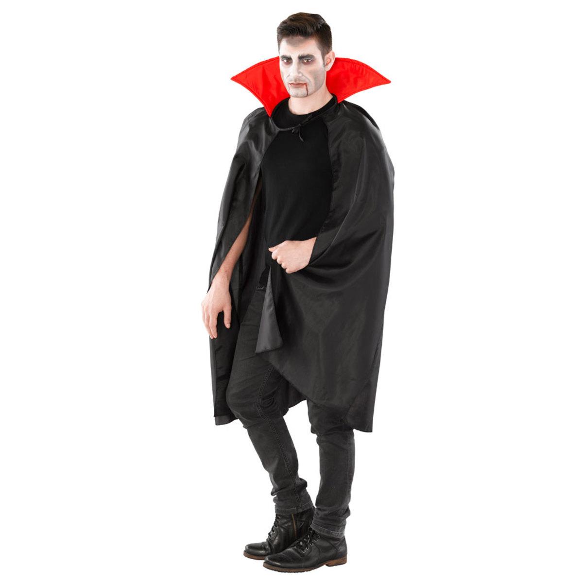 Bild 3 von Dracula Vampir Umhang roter Kragen