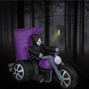 Halloween-Deko Tod auf Motorrad aufblasbar