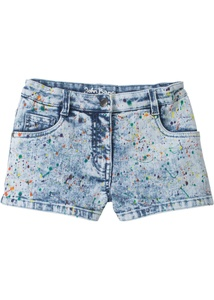 Bunte Jeans-Shorts