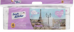 Sanft&Sicher Toilettenpapier Premium 4-lagig, 10x160 Bl