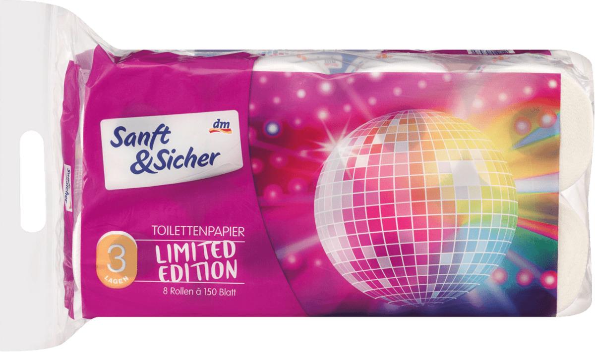 Bild 1 von Sanft&Sicher Toilettenpapier Saison 3lg 8x150Bl
