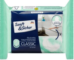Sanft&Sicher Feuchtes Toilettenpapier Classic Sensitive Nachfüllpackung