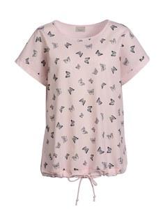 Bexleys Edition - Shirtbluse mit Schmetterlingdruck in Leinen-Baumwoll-Mix