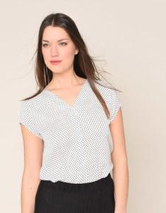 My Own - gepunktete Bluse mit V-Ausschnitt