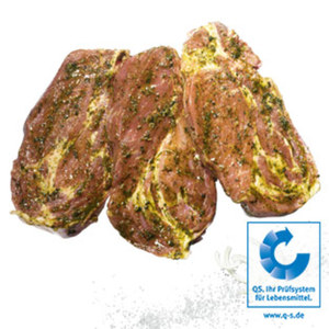 Frisches Grillkotelett vom Schweinenacken, gewürzt, je 1 kg