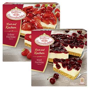 Coppenrath & Wiese  Lust auf Kuchen Erdbeer- oder Kirsch Frischkäse gefroren, jede 550-g-Packung und weitere Sorten