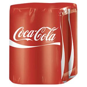 Coca Cola* (*koffeinhaltig), jede 4 x 0,33-Liter-Packung