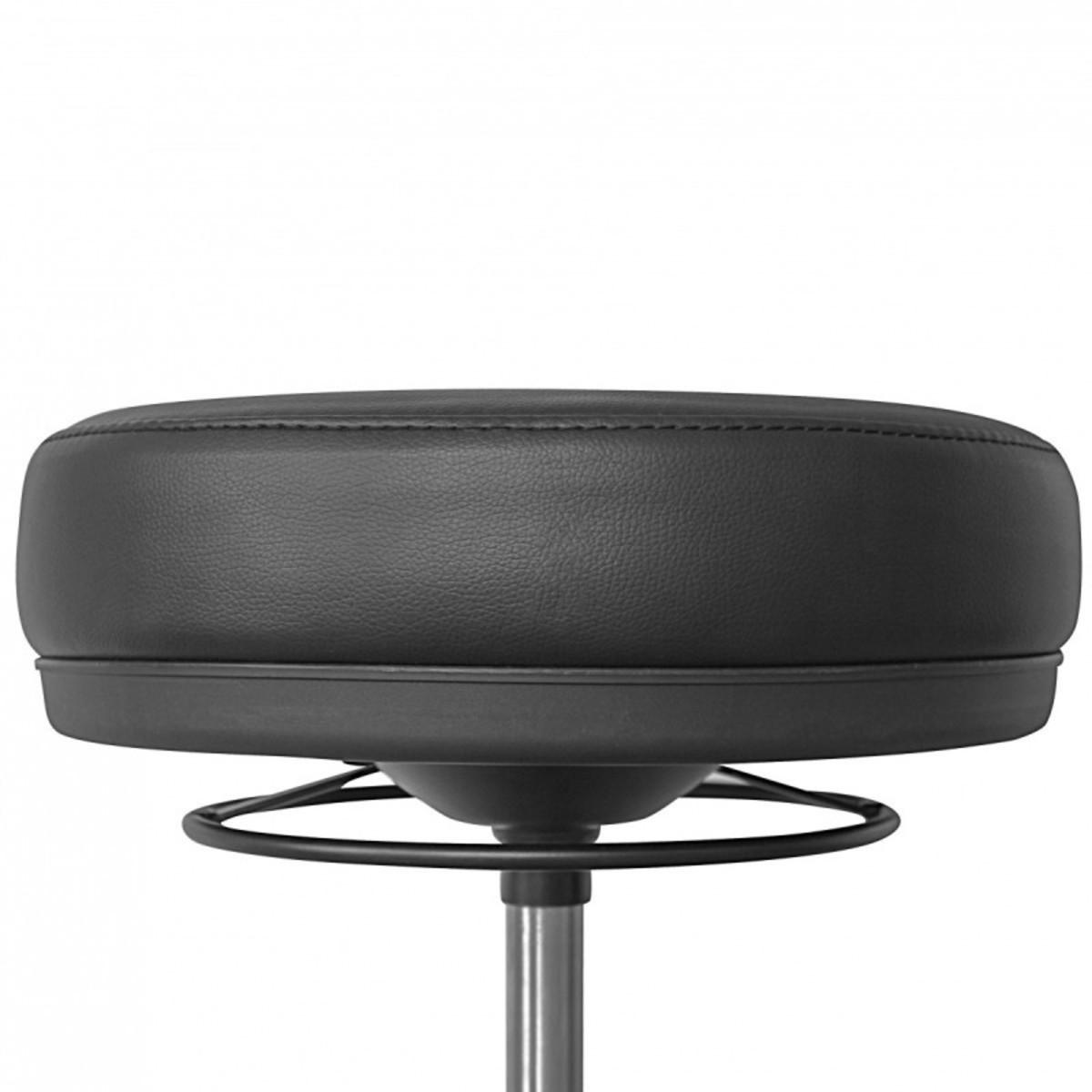 Bild 4 von AMSTYLE Arbeitshocker ROLAND Schwarz Rund Sitzhocker Rollen gebremst Arbeitsstuhl 120 KG Hocker höhe