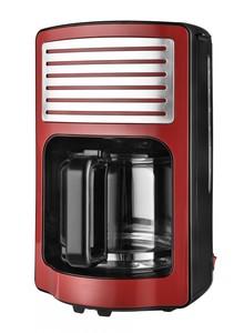 Kalorik Retro-Kaffeeautomat 1,8 Liter Glaskanne rot mit Chrom-Highlights TKG CM 2500 R