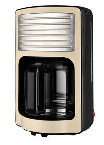 Kalorik Retro-Kaffeeautomat 1,8 Liter 15 Tassen Glaskanne creme-weiß mit Chrom-Highlights TKG CM 250