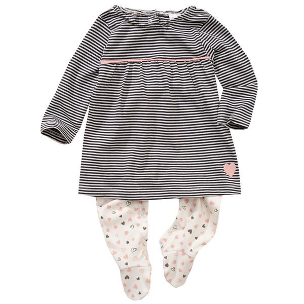 Newborn Stramplerkleid mit Fuß