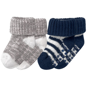 2 Paar Newborn Socken mit ABS-Noppen