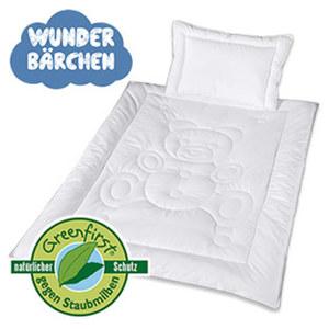 Baby-Betten-Set Bezug: 100 % Baumwolle, Füllung: 100 % Polyester, bestehend aus 1 Einziehdecke, 100 x 135 cm und 1 Kissen, 40 x 60 cm