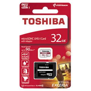 microSDHC-Speicherkarte • mit beiliegendem Adapter verwendbar als SDHC-Karte • Class 10 • UHS-I U3