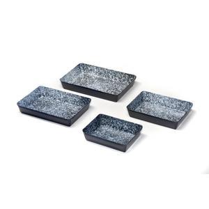 acerto® Emaille Ofenform eckig, 4er Set