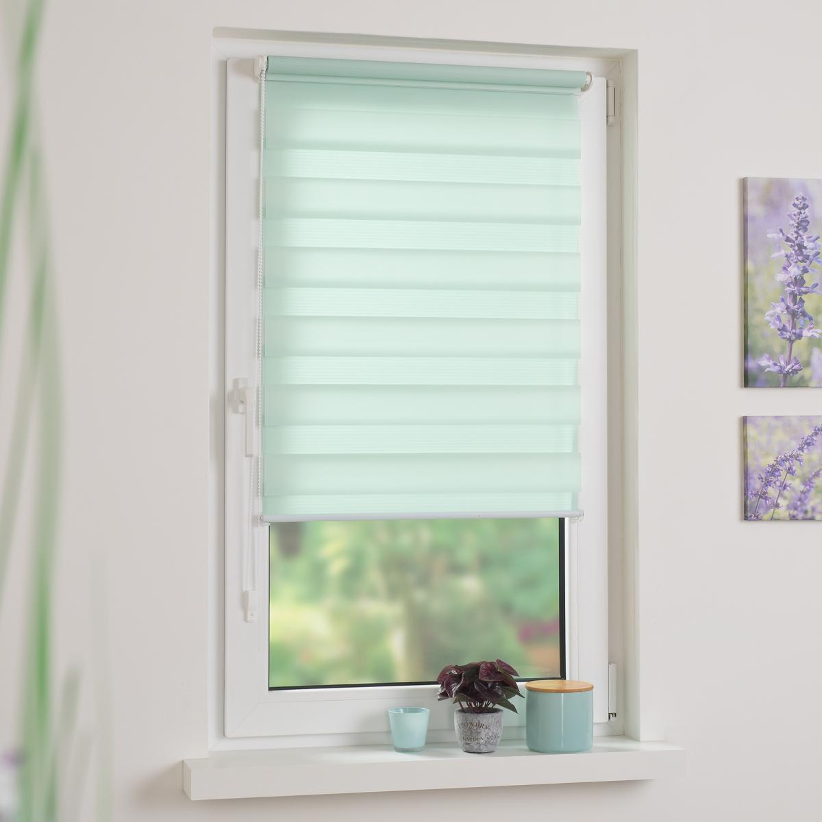 Bild 1 von Bella Casa Duo-Rollo mini, Klemmfix Doppelrollo, pastellgrün, Rollo 45 x 160 cm (B x H)