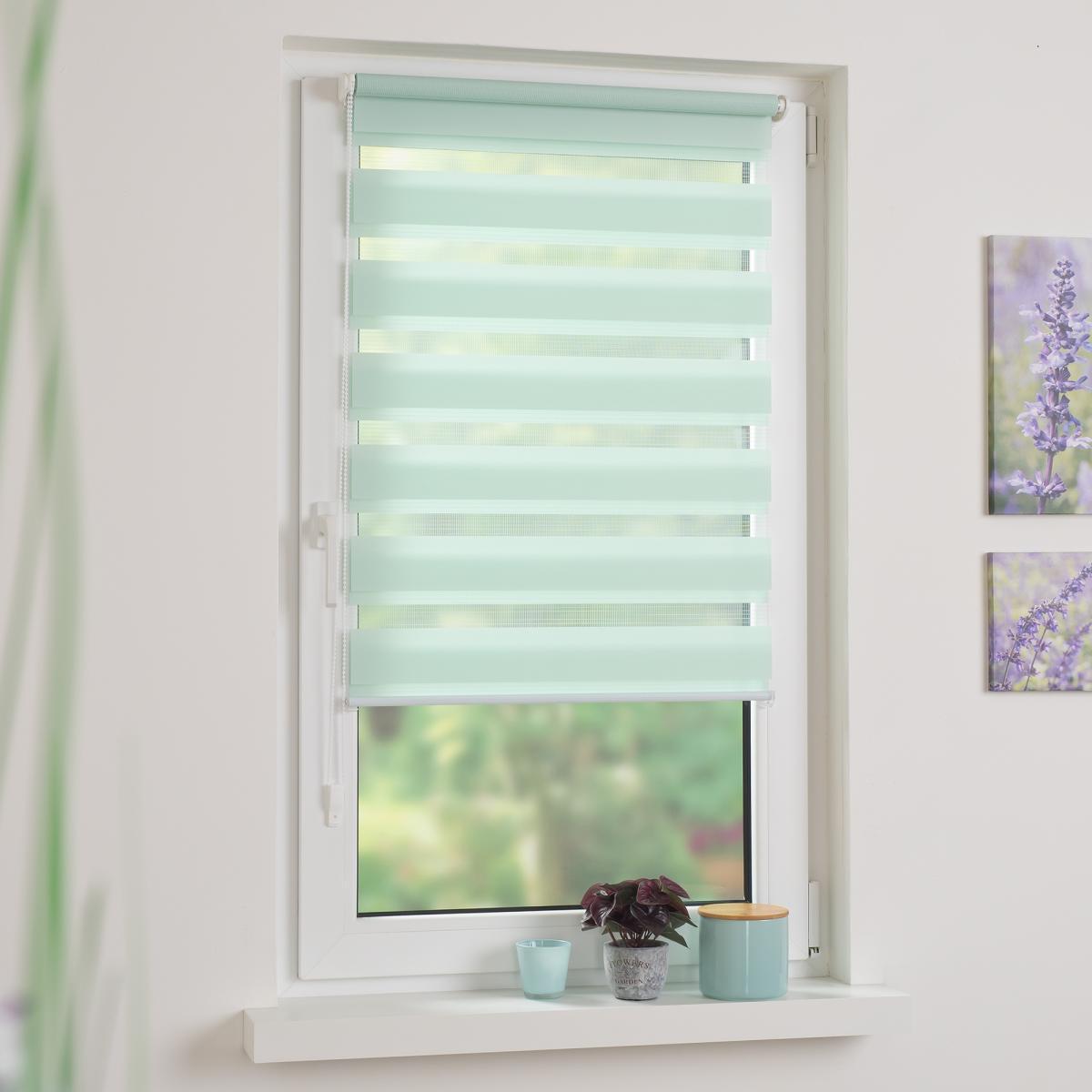 Bild 3 von Bella Casa Duo-Rollo mini, Klemmfix Doppelrollo, pastellgrün, Rollo 45 x 160 cm (B x H)