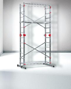 Hailo Multifunktionsgerüst 1-2-3  500 Combi - 2 x 12 Stufen