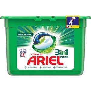 Ariel Compact 3in1 Pods Vollwaschmittel 16 WL 0.29 EUR/1 WL