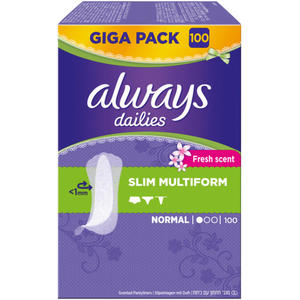Always dailies Slim Multiform Slipeinlagen Normal Fre 0.03 EUR/1 Stück