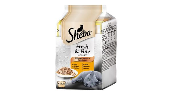 Sheba Katzennassfutter Fresh & Fine Geflügel Variation
