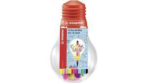 STABILO Fineliner point 68 Mini Colorful Ideas 12er-Set in Glühbirne