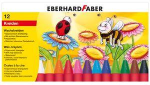EBERHARD FABER Wachsmalkreide dreiflächig 12er Etui