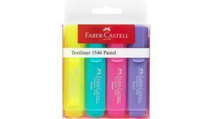 FABER-CASTELL Textmarker Textliner 1546 pastell im 4er-Etui