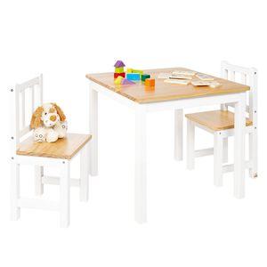 Kindersitzgruppe Fenna Kids (3-teilig) - Kiefer massiv - Kiefer / Weiß, Pinolino