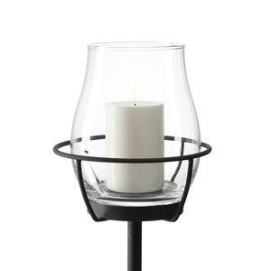 Windlicht Stab Giardino - Klarglas / Metall, Leonardo