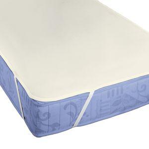 Matratzenauflage Molton I - Baumwollstoff - Creme - 150 x 200cm, Biberna