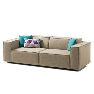 Sofa Kinx (2,5-Sitzer) Webstoff - Keine Funktion - Stoff Milan Beige, Kinx