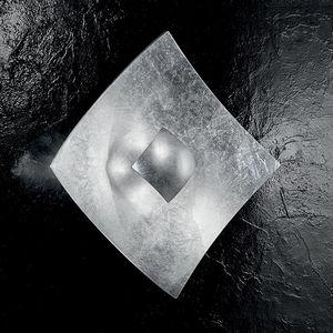 EEK A, Wandleuchte Quadrangolo Silber - Metall / Glas - Silber - 2-flammig, Hans Kögl