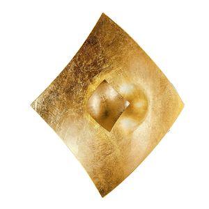 EEK A, Wandleuchte Quadrangolo Gold - Metall / Glas - Gold - 4-flammig, Hans Kögl