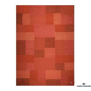 Teppich Patch Denim - Rot - 160x230cm, Tom Tailor