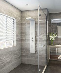 Home Deluxe Duschpaneel Cascata, weiß