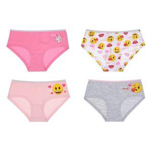 Kinder Slips, 4er Pack - Emoji, Gr. 122/128