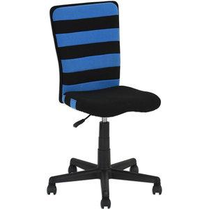 Drehstuhl KUMI - schwarz-blau - höhenverstellbar