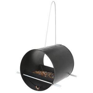 Vogelfutterstation aus Metall Schwarz
