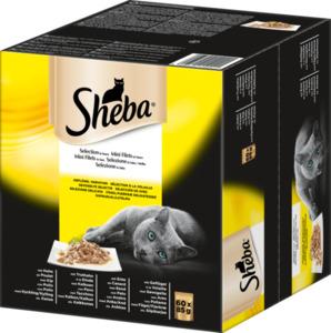 Sheba Nassfutter für Katzen, Selection in Sauce, MP 60x85g