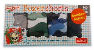 Boxershorts für Jungs 4er 140-146 Tarnmuster