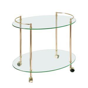 Patricia Servierwagen - Vergoldet - oval, Home Design
