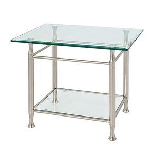 Beistelltisch Vienne - Glas mit Facettenschliff, Home Design