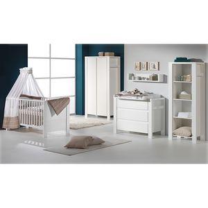 Babyzimmer Milano - Weiß - mit 2-trg. Schrank, Schardt
