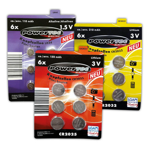 Powertec Electric Knopfzellen