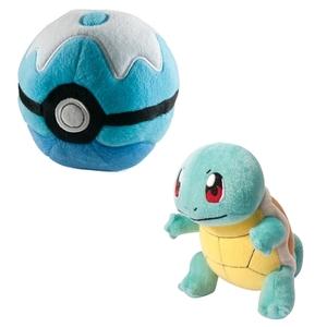 Pokémon - Plüschfigur, Schiggy mit Pokéball