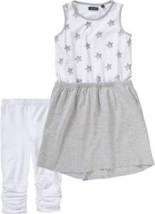 Kinder Set Jerseykleid + Caprileggings Gr. 98 Mädchen Kleinkinder